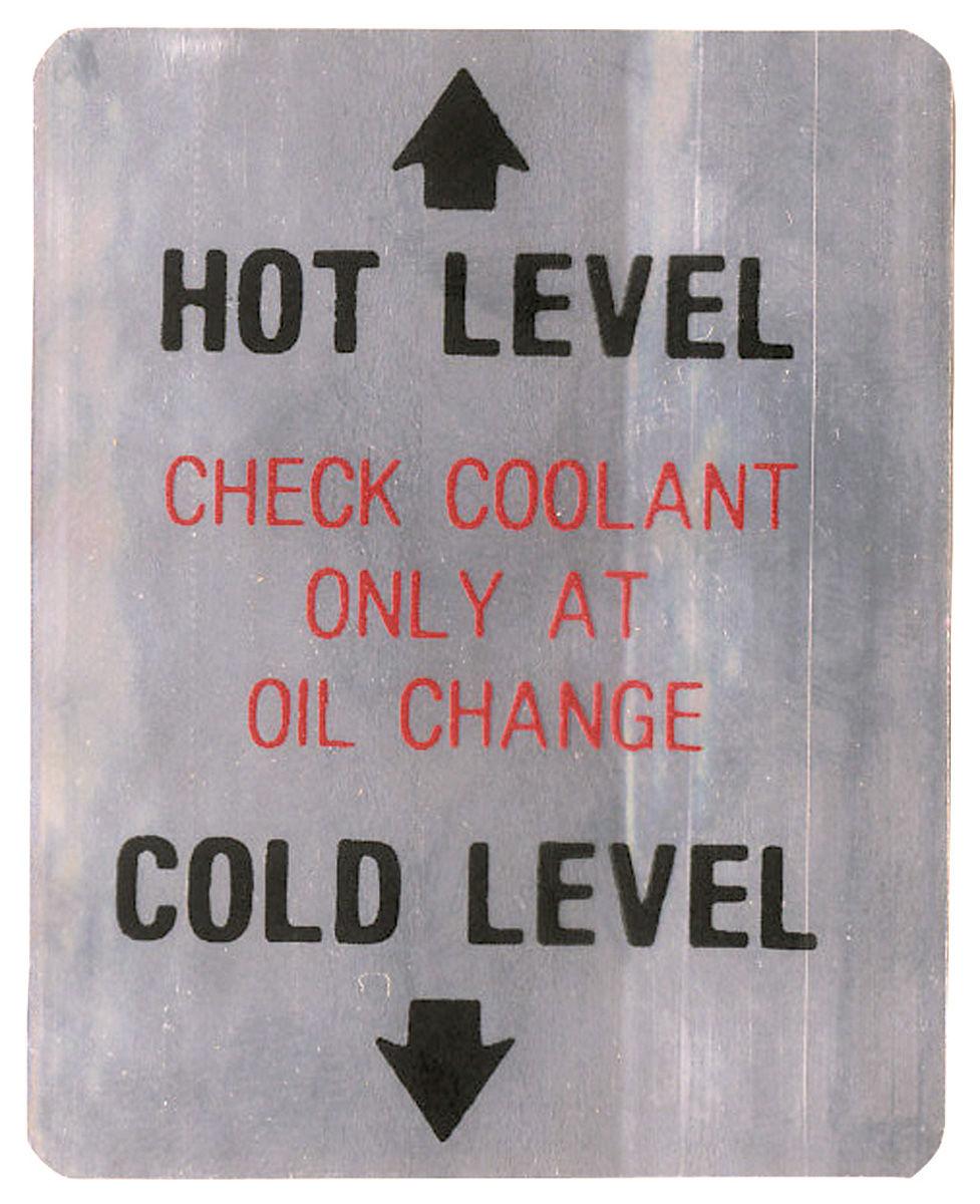 Decal, 68 Cadillac, Caution, Coolant Level