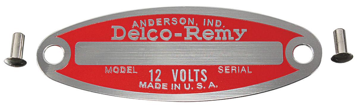 Tag, 54-64 Cadillac, Pontiac, Identification, Generator & Starter