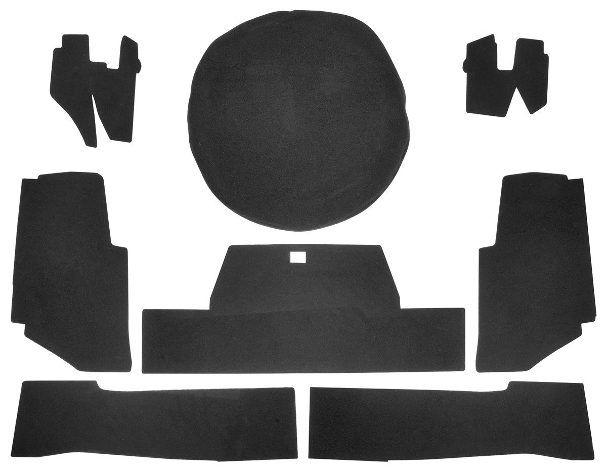 Trunk Board Set, 1971-72 Eldorado Convertible, w/ Felt Material