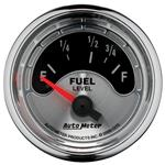 "Gauge, Fuel Level, Auto Meter, American Muscle, 2-1/16"", 73 Empty/10 Full"