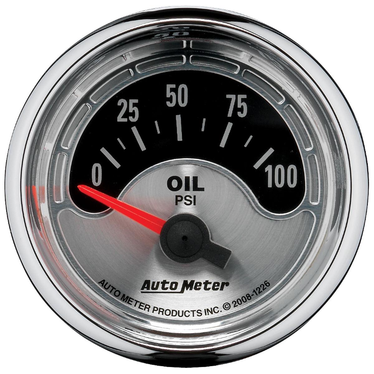 Gauge, Oil Pressure, Auto Meter, American Muscle, 2-1/16