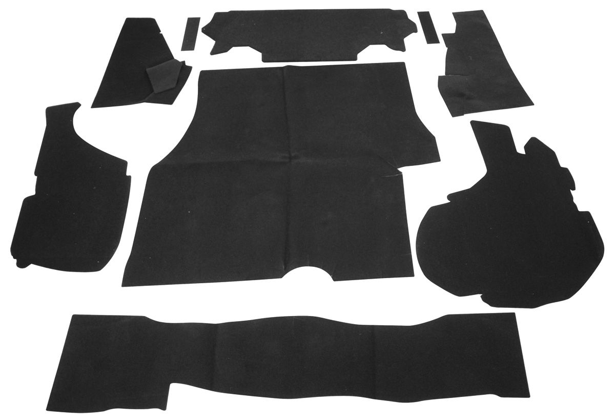 Dress Up Kit, Trunk, 1981-88 Monte Carlo/1981-87 Regal, 9pc