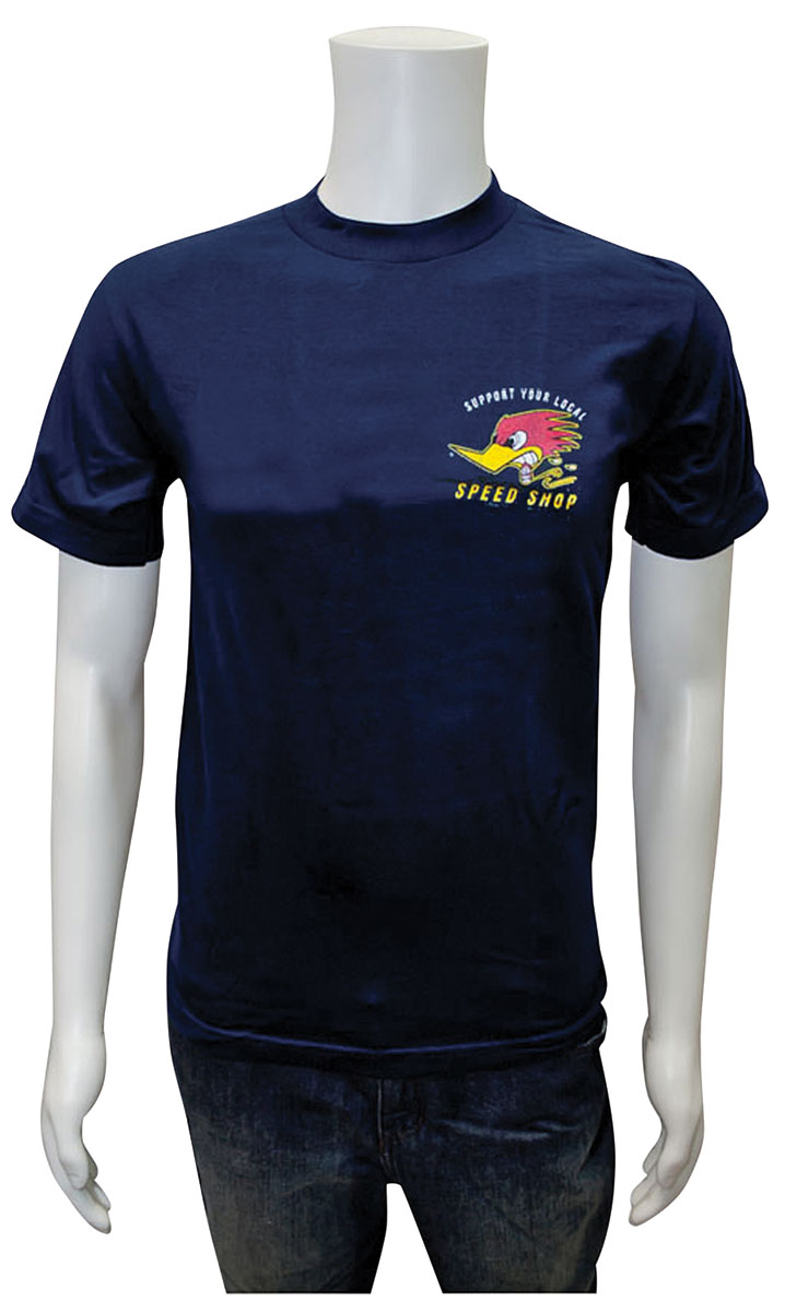 Shirt, Clay Smith, Support Speed Shop, Navy