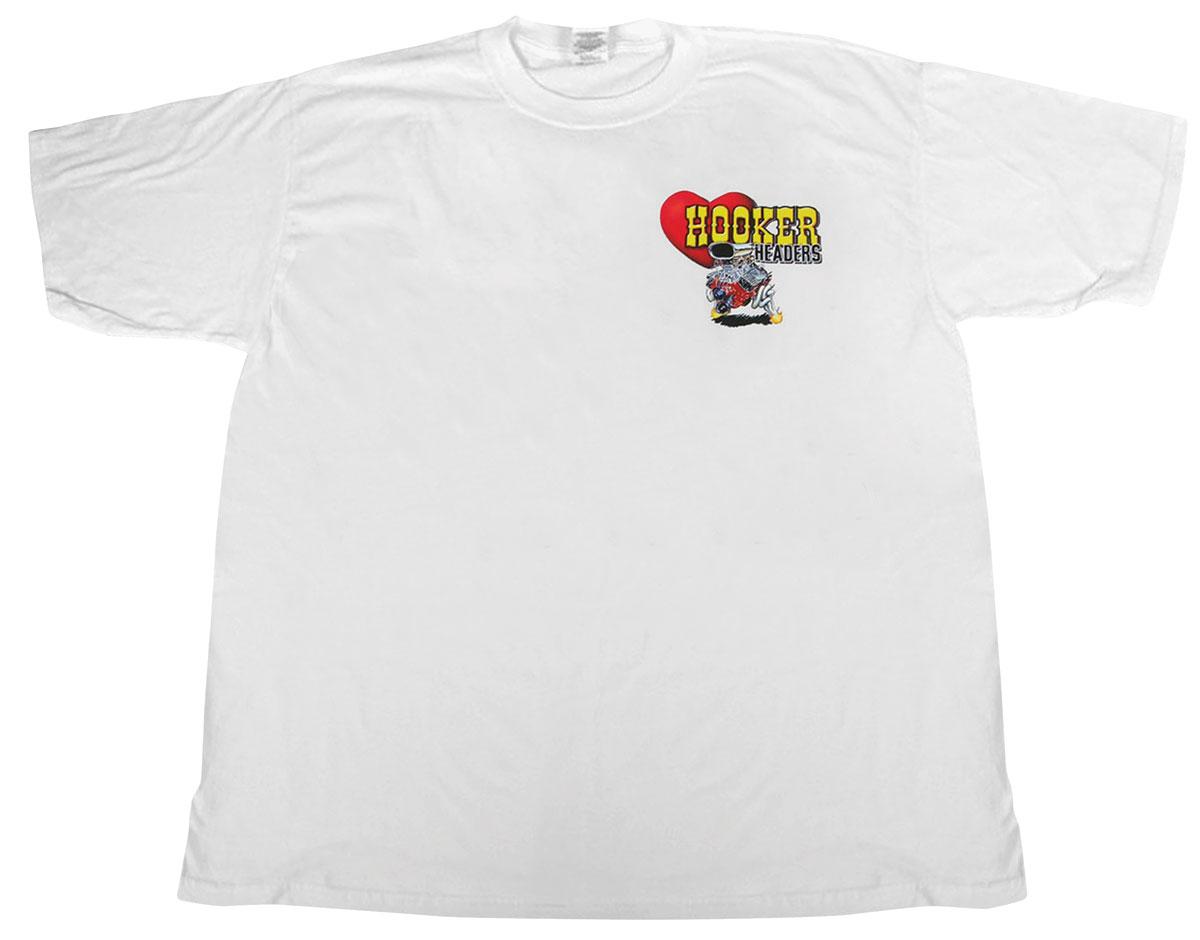 Shirt, Retro Hooker, White