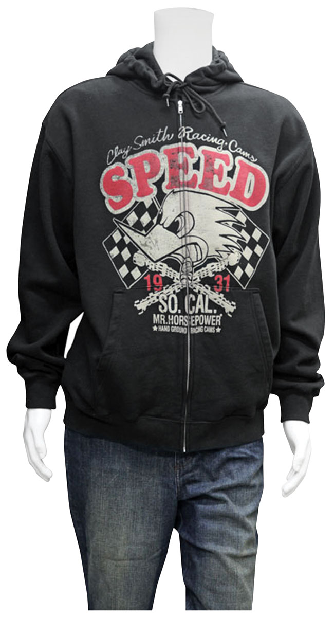 Hoodie, Clay Smith SPEED, Black