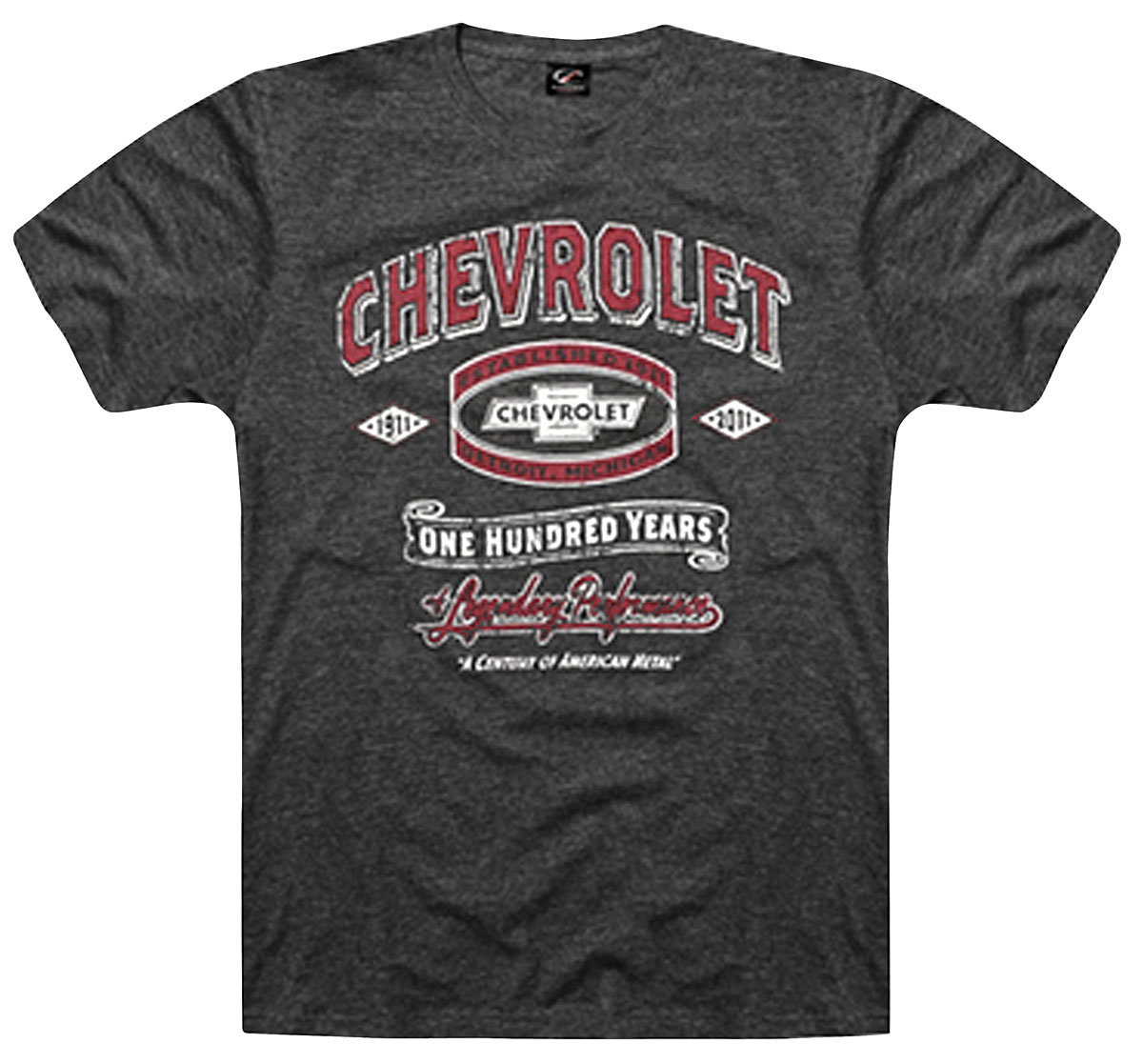 Shirt, Chevrolet 100 Years, Charcoal