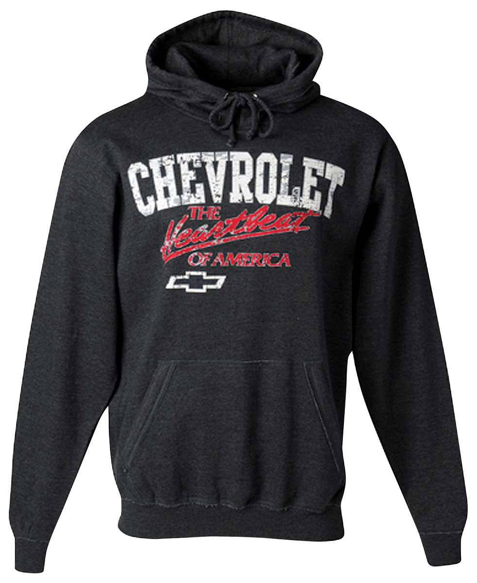 Hoodie, Chevrolet, Heartbeat of America, Black