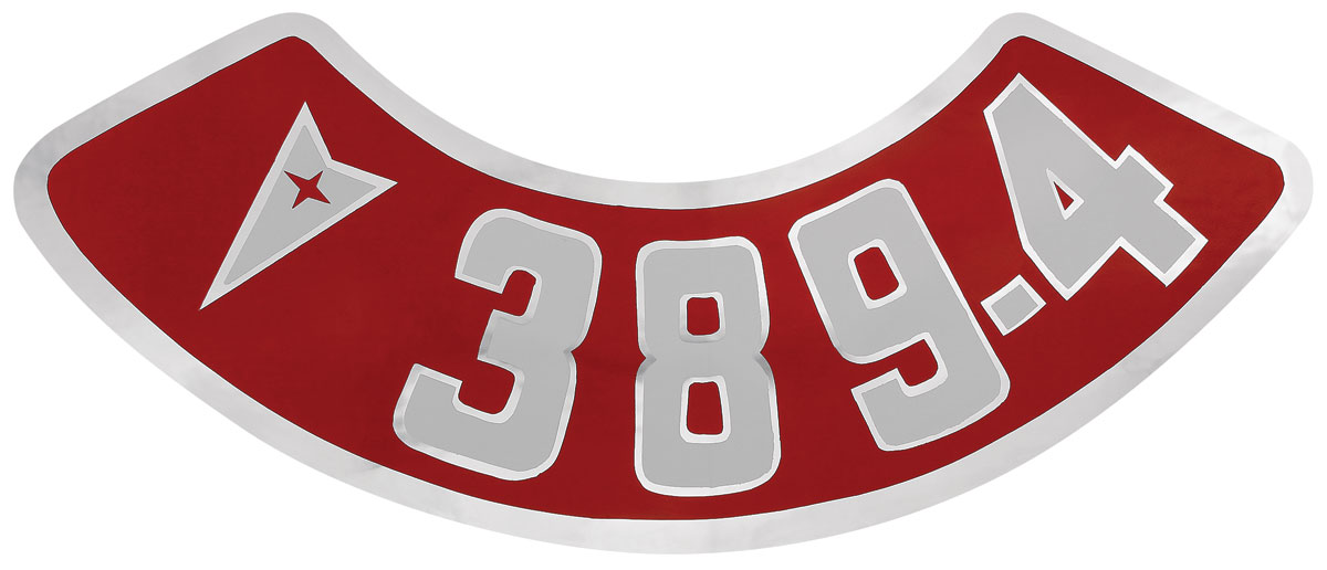 Decal, 59-76 Pontiac, Air Cleaner, Aftermarket, 389 4V