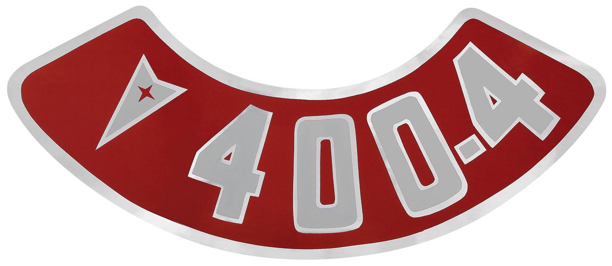 Decal, 59-76 Pontiac, Air Cleaner, Aftermarket, 400 4V