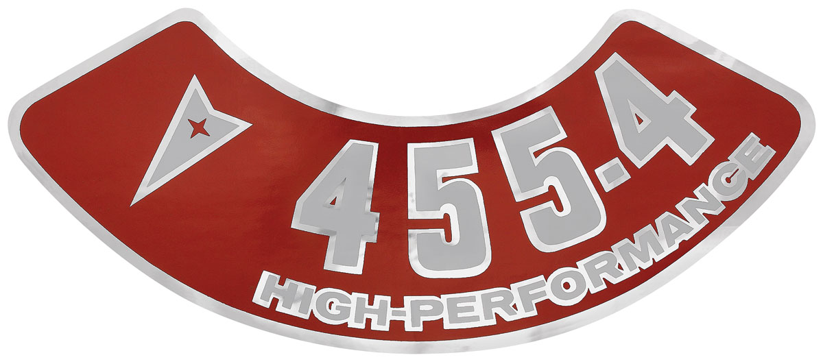 Decal, 59-76 Pontiac, Air Cleaner, Aftermarket, 455 4V, High Performance