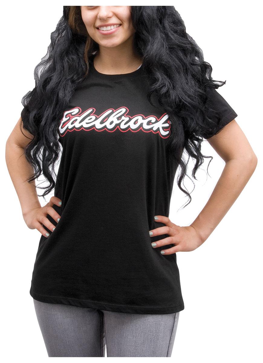 Shirt, Edelbrock Women's Crew-Neck, Black