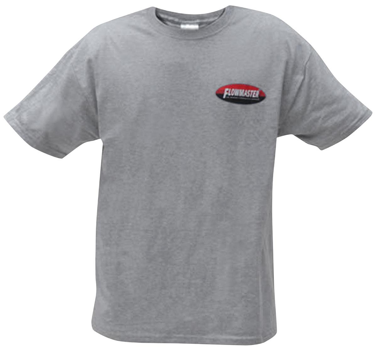 Shirt, Flowmaster Oval Tee, Light Gray