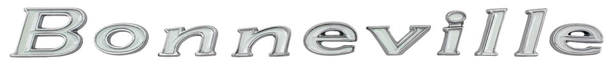 Emblem, Quarter Panel Letters, 1967 Bonneville, 10-pc