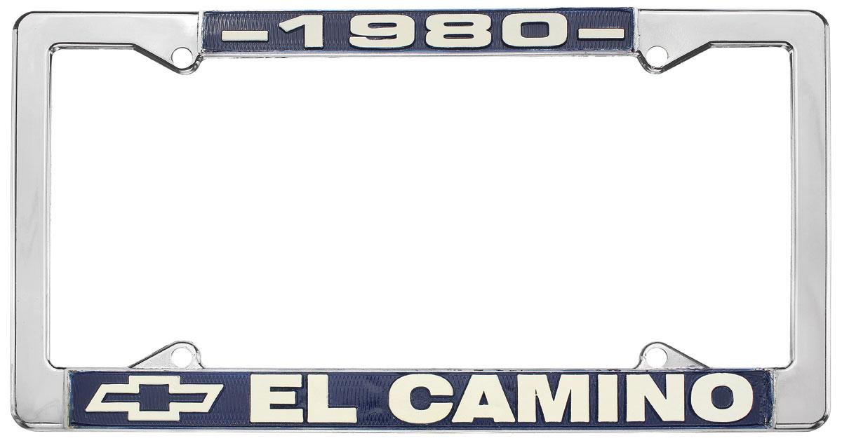 License Plate Frame, 1980 El Camino