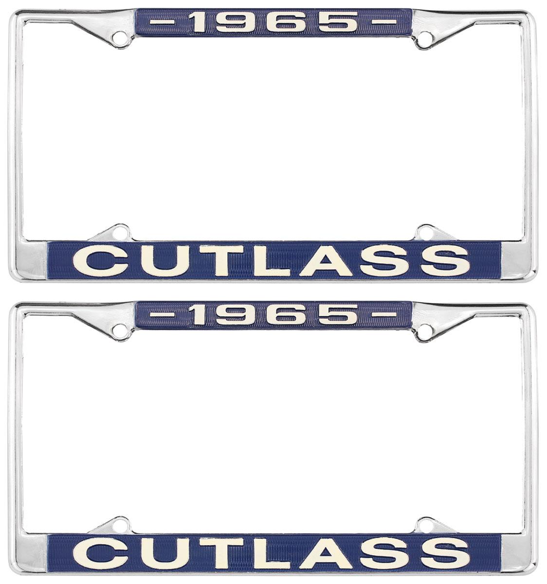 License Plate Frame, 1965 Cutlass
