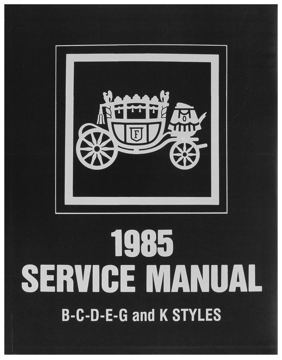 Fisher Body Manual, 1985 GM Cars