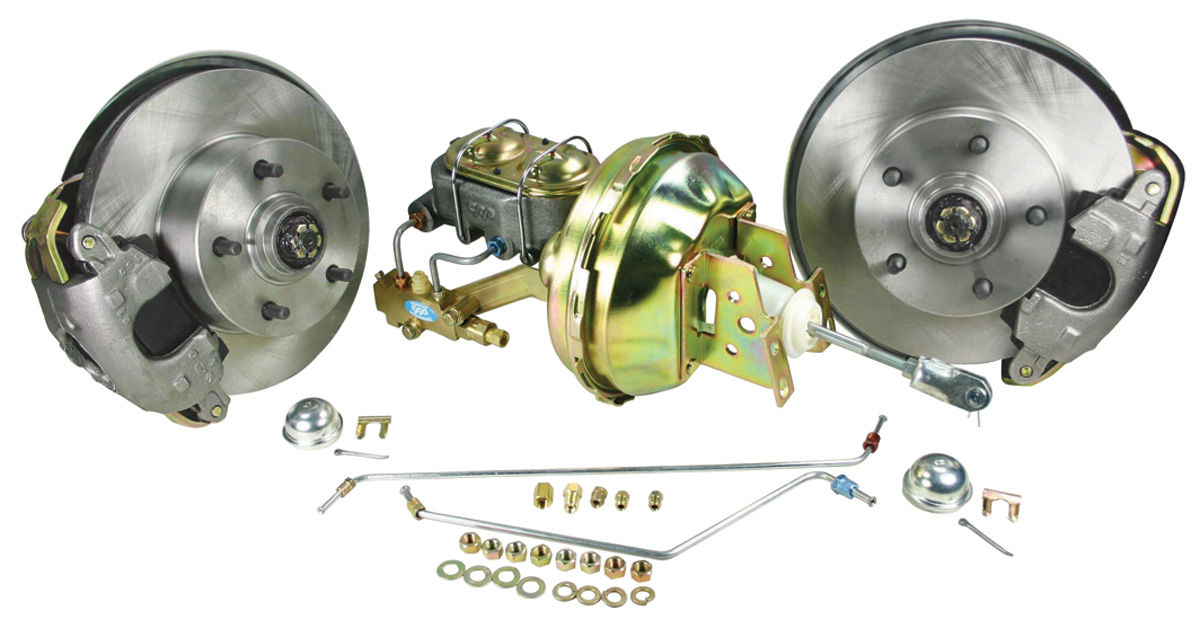 Disc Brake Kit, 1964-66 A-Body, Stock Spindle, Std. Booster