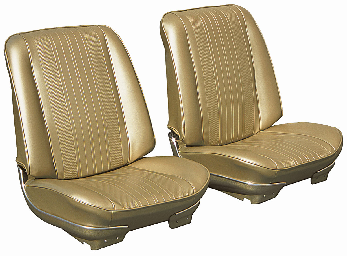 Seat Upholstery, 1970 Chevelle, Front Buckets DI