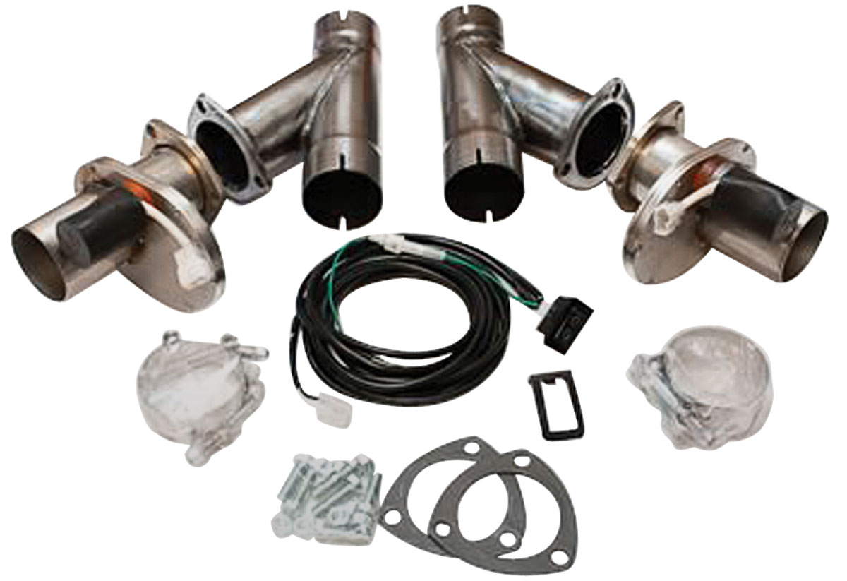 Exhaust Cut-Out Kit, Electric, Dougs Headers, 3