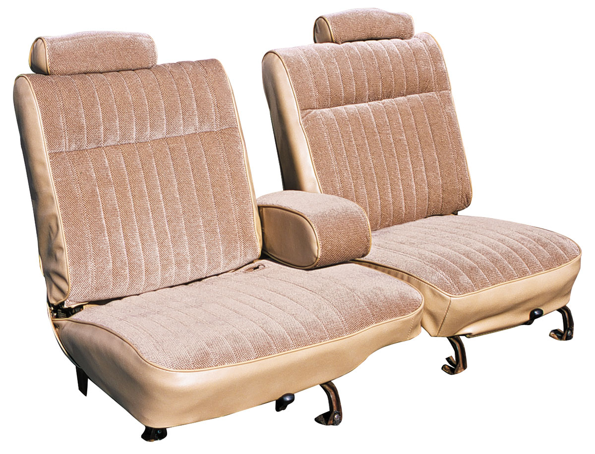 Seat Upholstery, 81-87 El Camino, 55/45 Front Split Bench w/ Armrest, Cloth
