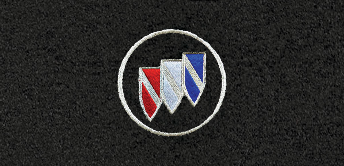 Floor Mats, Cutpile, 1982-87 Buick G-Body, Buick Shield Logo
