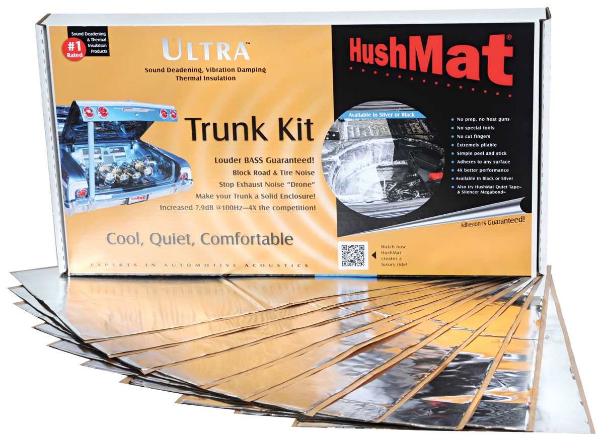 Sound Deadener, Trunk Kit, Hushmat Ultra, 10 Sheets 12
