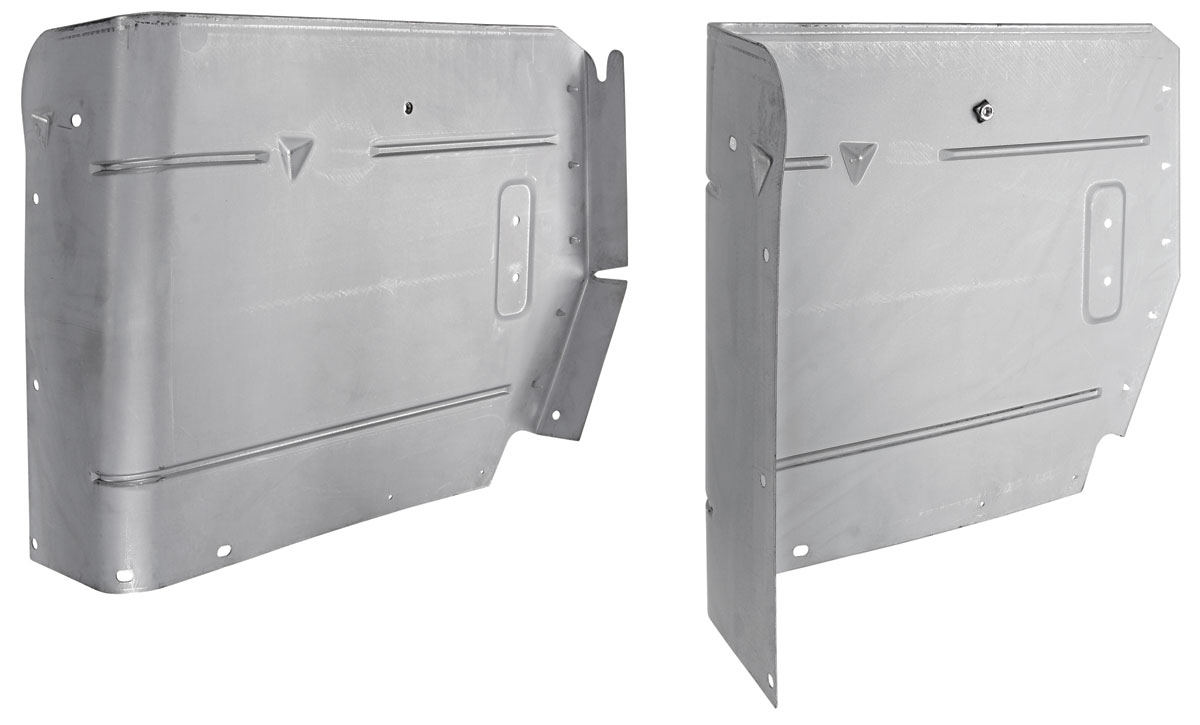 Armrest Panel, Upper Rear, 1964-67 A-Body Convertible, Power Top, Pair