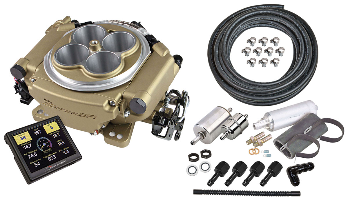 EFI Kit, Master, Holley Sniper, Classic Finish