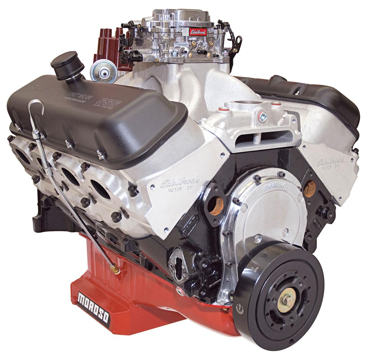 Crate Engine, 555 RPM Carbureted, Edelbrock/Musi, Big Block Chevrolet