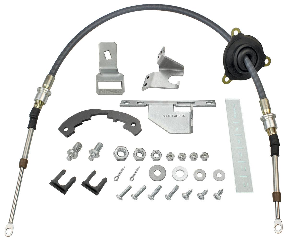 Conversion Kit, Shifter, 1966-67 Chevelle/El Camino, TH350/TH400 w/ Cable