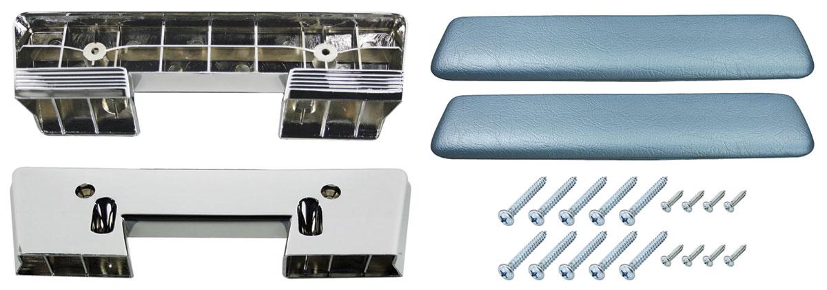 Armrest Base/Pad Kit, Front, 1961-64 Pontiac A-Body/1964 A-Body