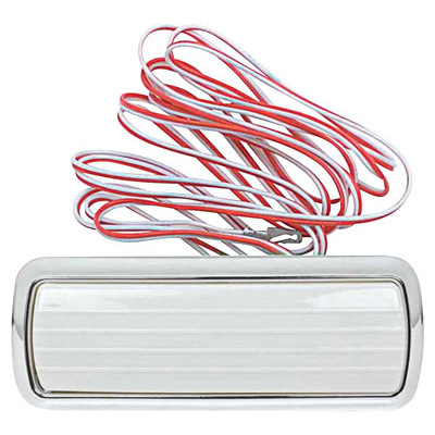 Assembly, Dome Light, 1961-65 Corvair FC, Chrome w/ Wires