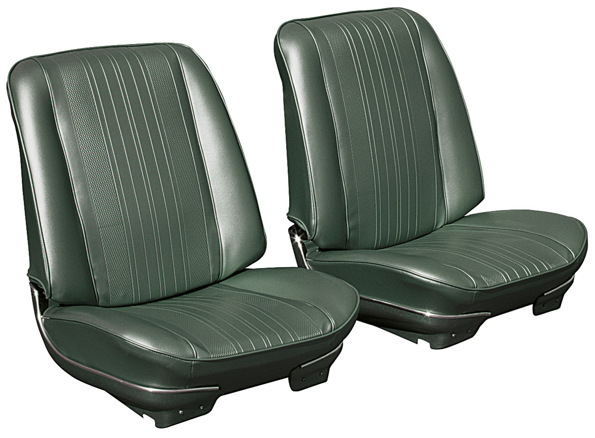 Bucket Seats, 1970 Chevelle/El Camino, Assembled w/ Headrests