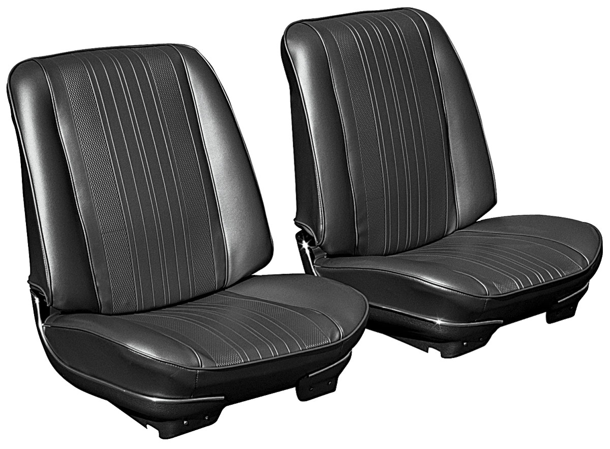 Bucket Seats, 1970 Chevelle/El Camino, Assembled w/o Headrests