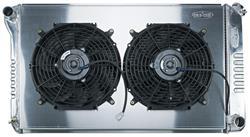 Radiator/Fan Combo, Alum Cold-Case, 68-77 Ch/Mont/Elco, 68-72 GTL/FS/Cut, Man