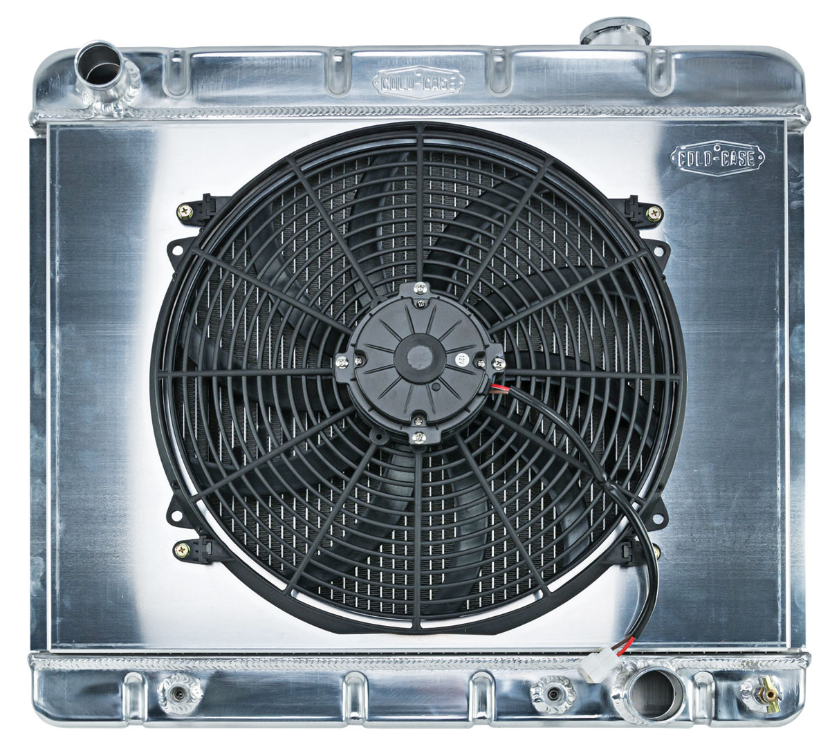 Radiator/Fan Combo, Aluminum Cold-Case, 1961-66 Bonn/Cat, 1962-64 Grand Prix, AT