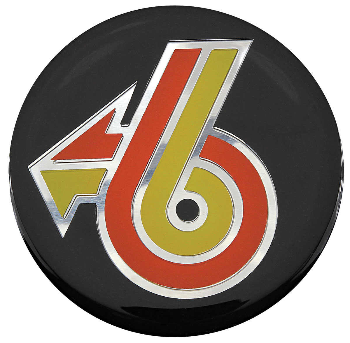 Emblem, Wheel Cap, 1984-87 GNX Alloy Wheel, Turbo-6