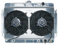 Radiator/Fan Combo, Aluminum Cold-Case, 1964-65 Chevelle/El Camino, Automatic
