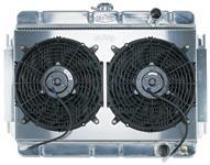 Radiator/Fan Combo, Aluminum Cold-Case, 1964-65 Chevelle/El Camino, Manual