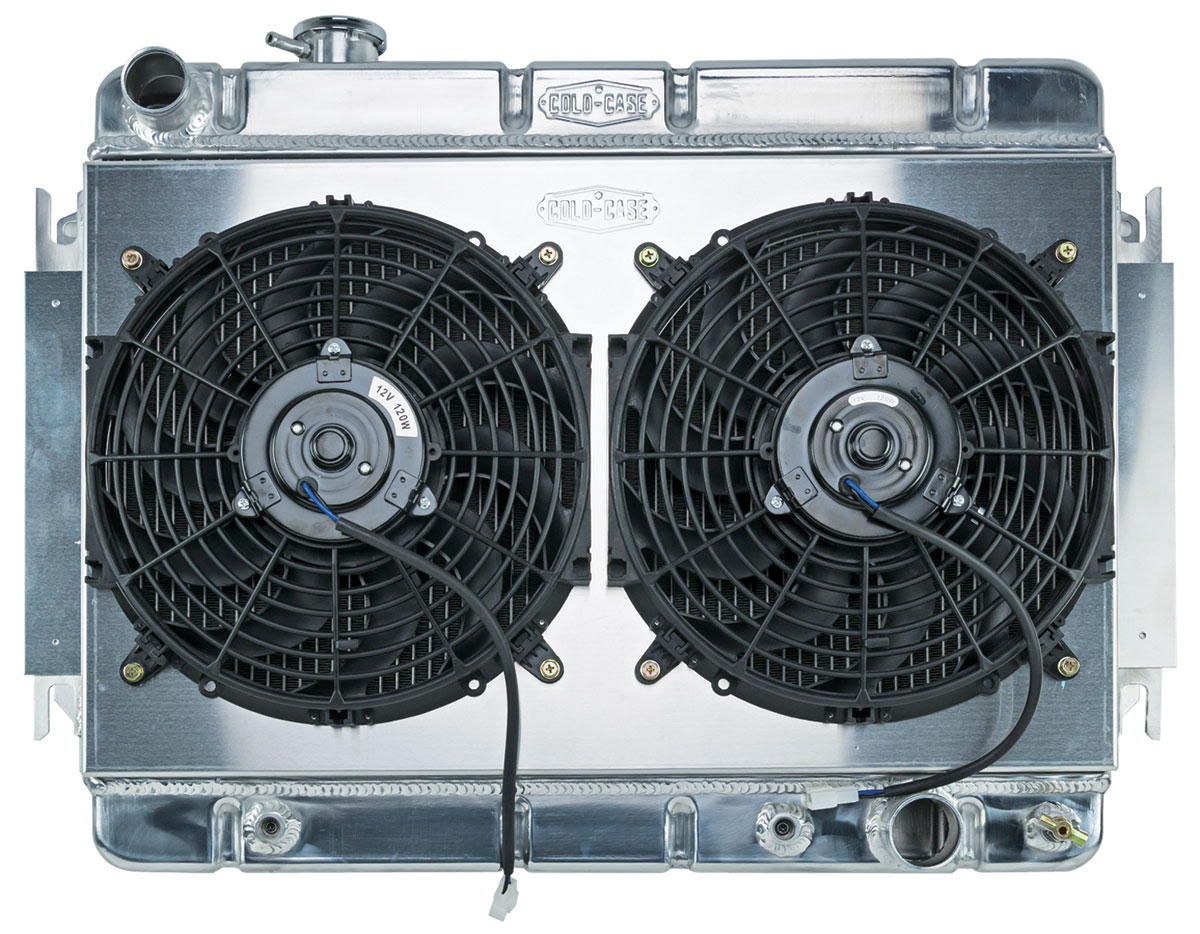 Radiator/Fan Combo, Aluminum Cold-Case, 1966-67 Chevelle/El Camino, Automatic