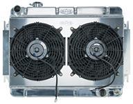 Radiator/Fan Combo, Aluminum Cold-Case, 1966-67 Chevelle/El Camino, Manual