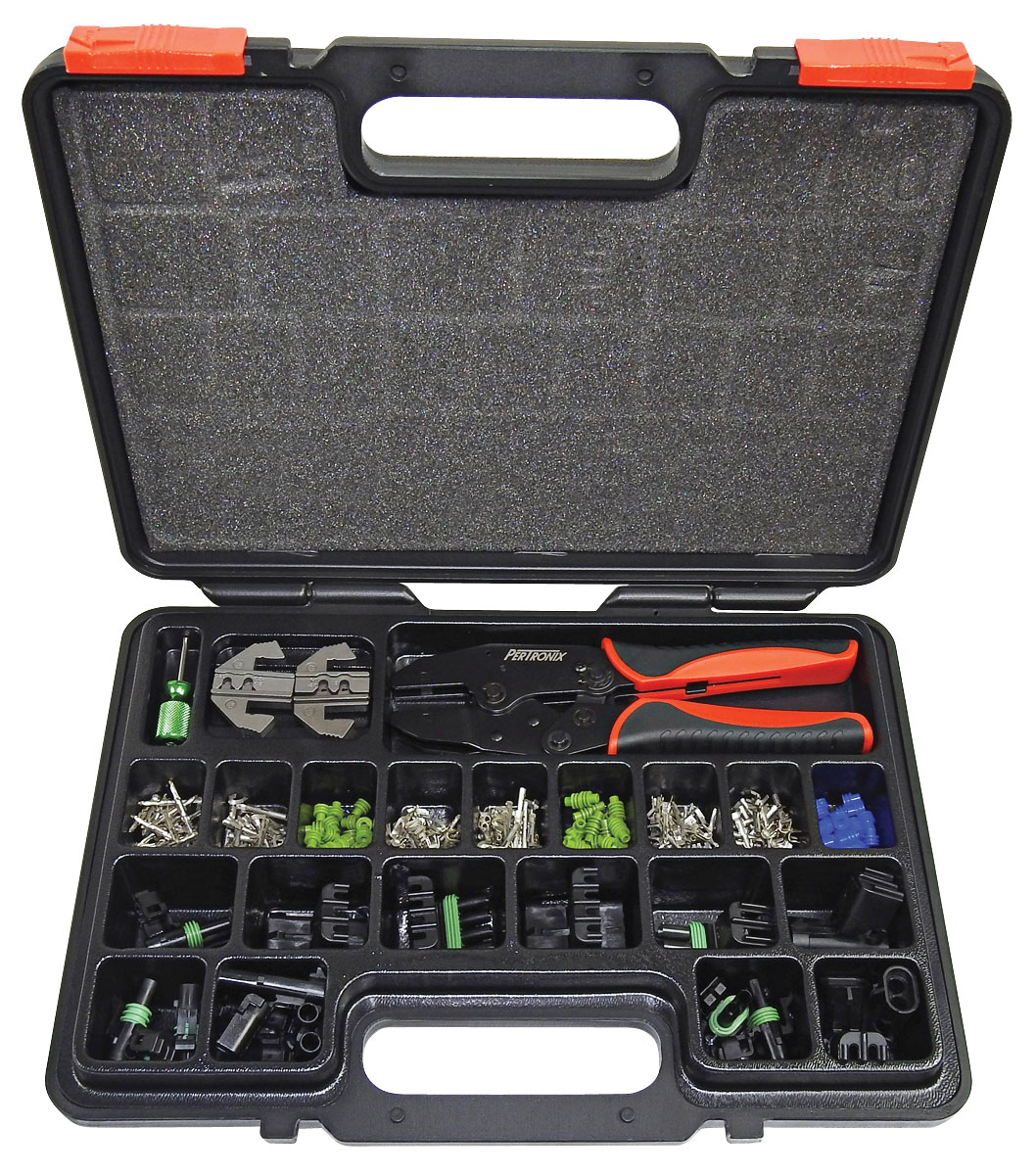 Tool, Pertronix Ratchet Crimp, w/Weather Pack Connector Set, 220PC