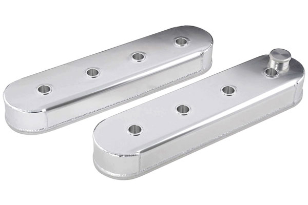 Valve Covers, Tall Aluminum, GM LS Engines, Clear Anodized
