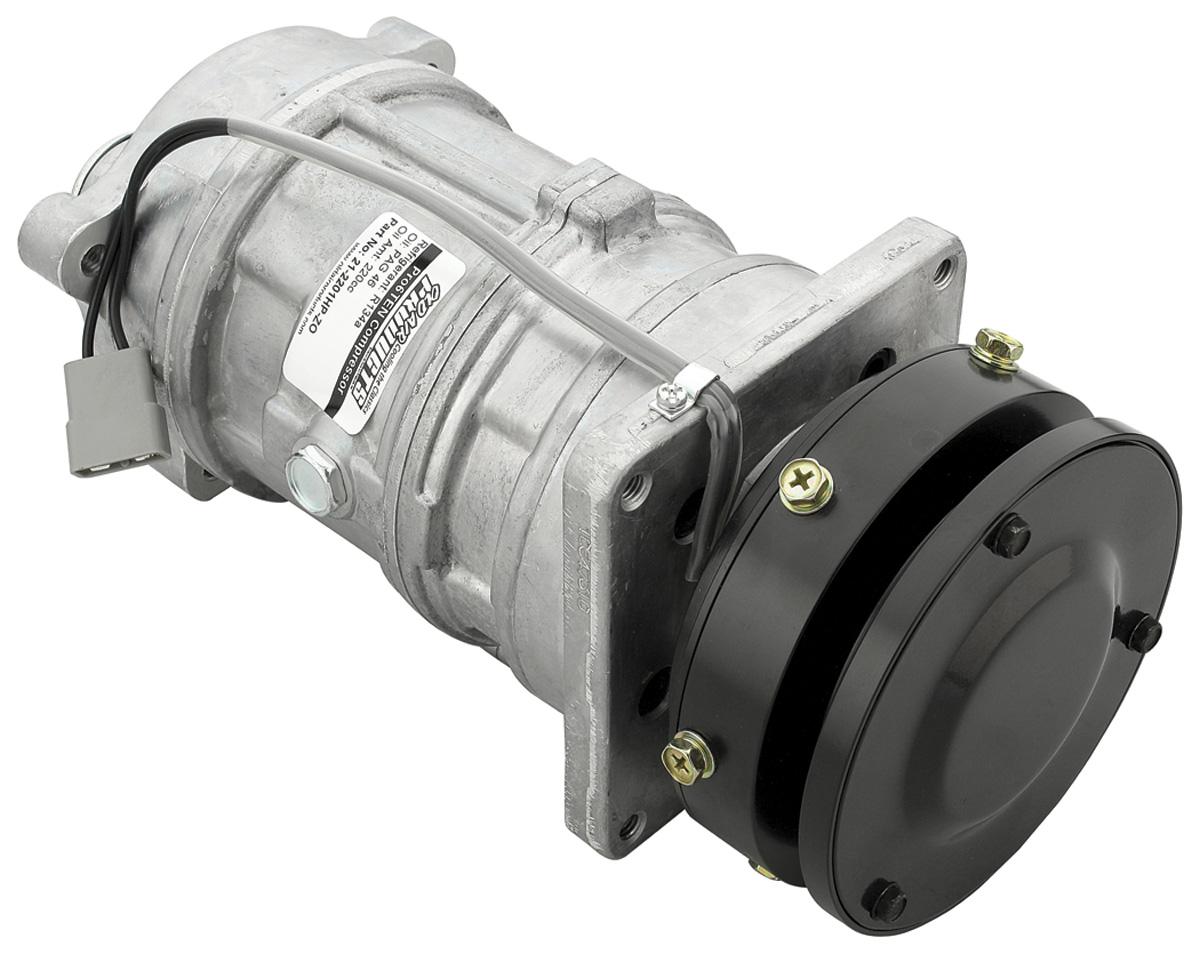 AC Compressor, Pro6Ten,1976-77,Sgl Plly, Hi-Pressure Switch