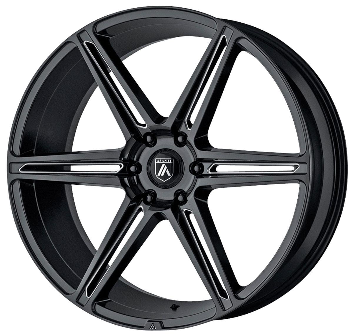 Wheel, Asanti Black Label, ABL-25 ALPHA 6, 1999-2019 Escalade, 20X9
