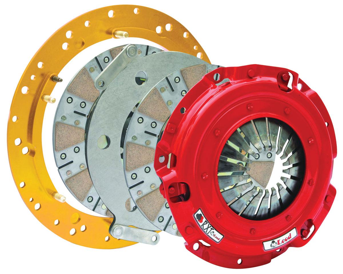 Clutch Assembly, McLeod RXT Twin Ceramic Disc, 6 Bolt Crank, 1000 HP
