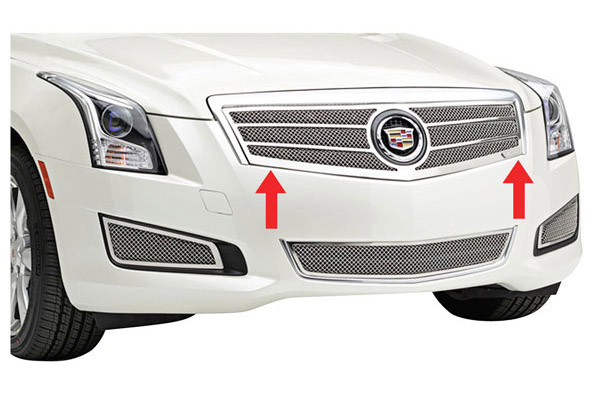 Grille Overlay, Mesh, 2013-2014 ATS exc. Platinum, Polished Stainless