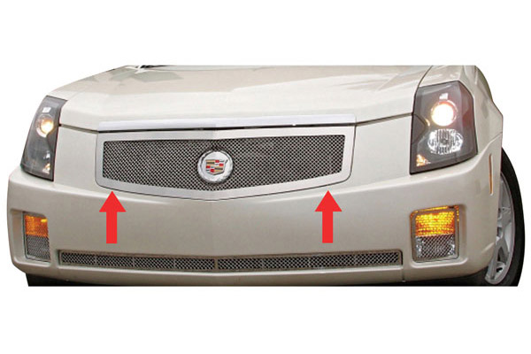 Grille Replacement, Mesh, 2003-07 CTS, Polished Stainless