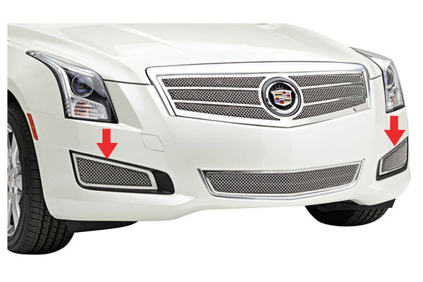 Grille Overlay, Mesh Bumper Sides, 2013-14 ATS exc. Platinum, Polished Stainless
