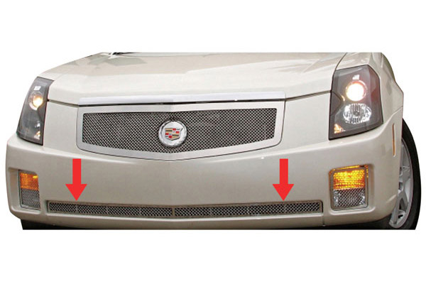 Grille Overlay, Mesh Bumper Center, 2003-07 CTS, Polished Stainless